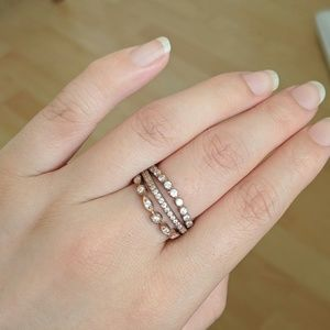 Rose gold finish sterling silver rings